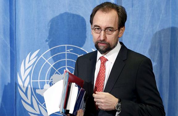 UN High Commissioner for Human Rights Zeid Ra'ad Al Hussein