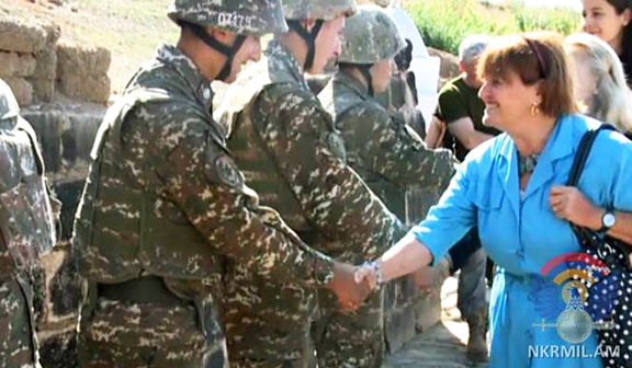 Baroness Cox visits soldiers on the front-lines in Artsakh