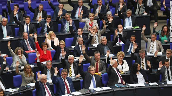 German Bundestag during vote on June 2, 2016