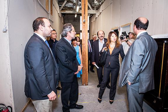 Visiting California State legislators tour Lark Musical Society facilities