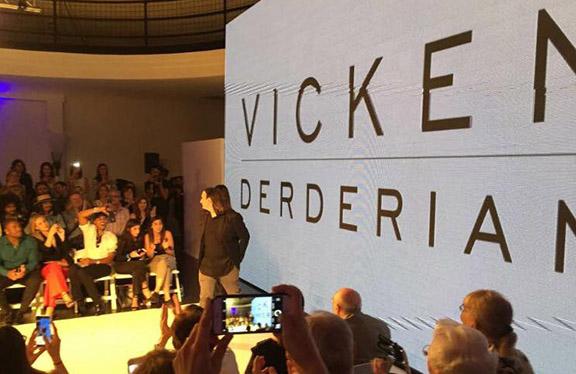 Designer Vikcen Derderian at his LA Fashion Week show