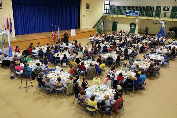 "Luncheon took place at Ferrahian High School's ""Avedissian"" Hall."