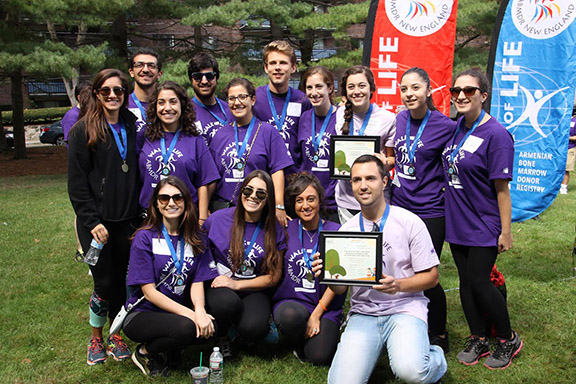 The Armenian Student Association Team raised the most funds. (Photo: ABMDR)