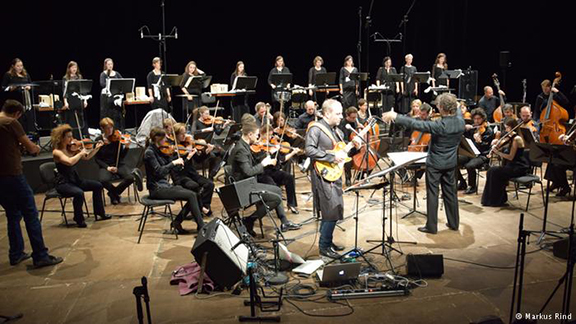 """The Dresden Symphony Orchestra performing """"Aghet,"""" dedicated to the commemoration of the Armenian Genocide. (Photo: Markus Rind)"""