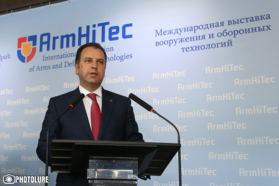 Armenian Defense Minister, Vigen Sargsyan, speaking at the opening of the event (Photo: Photolure)