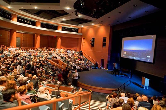 Las Vegas Clark County Library Theater with 400 sold out audience
