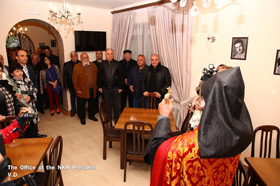 Opening ceremony of hotel built in Martakert (Photo: president.nkr.am)