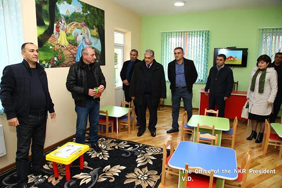 Opening of the new kindergarten in Martakert, Artsakh (Photo: president.nkr.am)