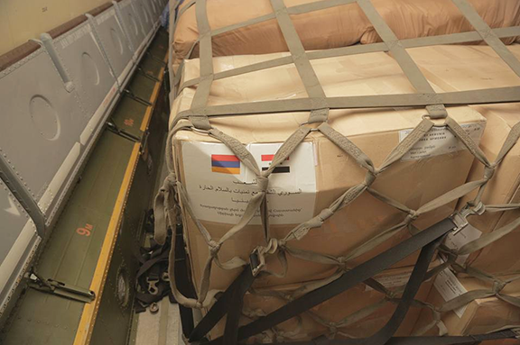 Planes carrying humanitarian aid took off from Armenia on October 3 and 5 (Source: ArmRadio)