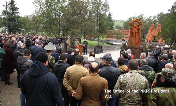 Artsakh President Bako Sahakyan delivering a speech (president.nkr.am)