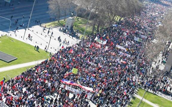 Over half a million protest Chile's Pinochet-era pension system