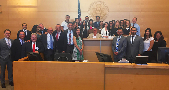 Federal Judge Larry A. Burns takes the bench with the Armenian Bar Association