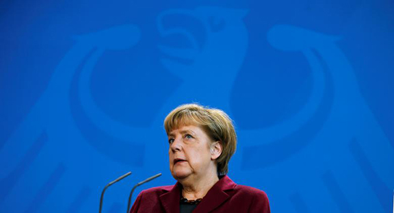German Chancellor Angela Merkel addresses a news conference after talks with Malta's Prime Minister Joseph Muscat at the chancellery in Berlin on Nov. 29, 2016. (Photo: Reuters/Hannibal Hanschke)