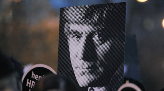Hrant Dink was murdered outside the offices of the Turkish-Armenian weekly newspaper Agos in central Istanbul on Jan. 19, 2007 (Source: Agos)