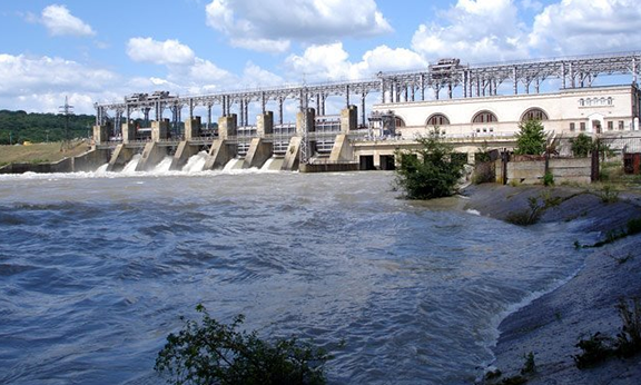 Vorotan Hydropower Plant, one of the larger hydropower plants in Armenia