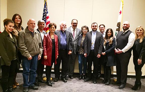 Orange County community members with Marty Simonoff