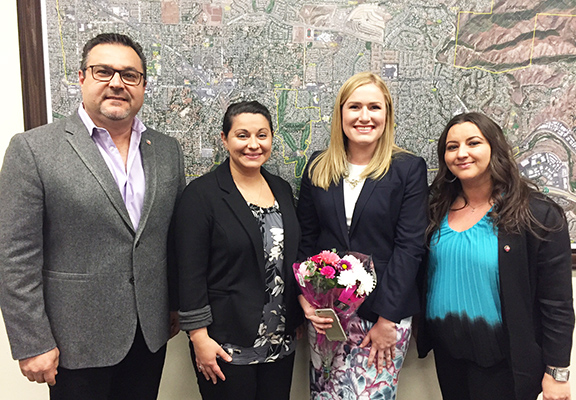 Tara Campbell (second from right) with ANCA Orange County members