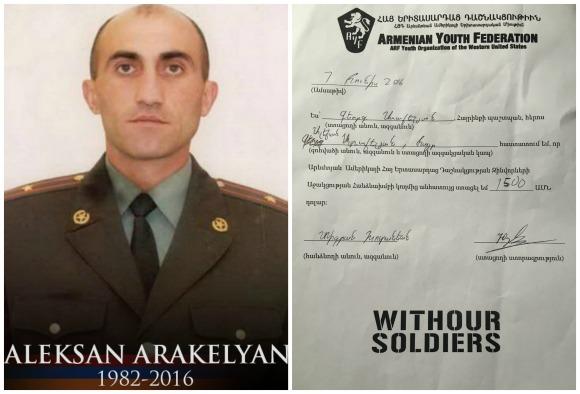 Aleksan Arakelyan, fallen soldier