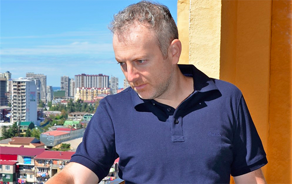 Alexander Lapshin, Israeli blogger who was detained in Minsk, Belarus by the order of Azerbaijani authorities for visiting Nagorno-Karabakh (Photo: Alexander Lapshin)