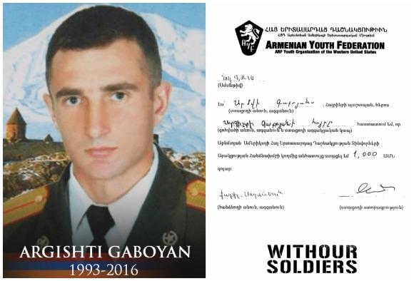 Argishti Gaboyan, fallen soldier