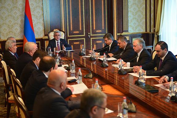 Armenia's National Security Council meets on Dec. 20, 2016 (Photo: president.am)