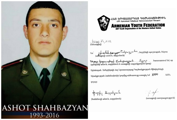 Ashot Shahbazyan, fallen soldier