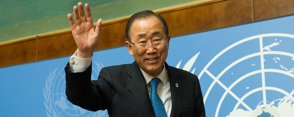 Ban Ki-moon at a dinner organized in his honor by the UN Foundation and Carnegie Corporation of New York (Photo: Aurora Prize)