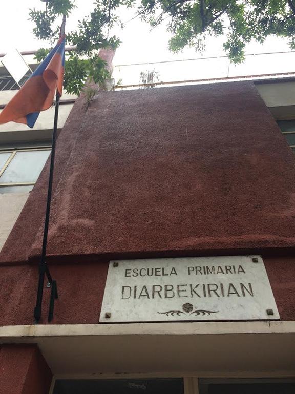An Armenian grade school in the Armenian quarters