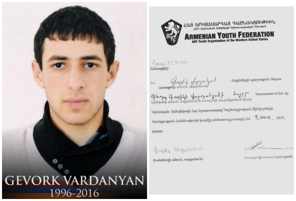 Gevork Vardanyan, fallen soldier