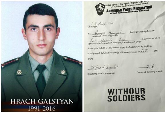Hrach Galstyan, fallen soldier