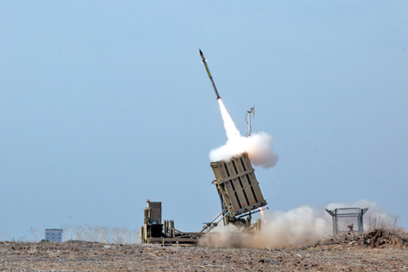 The Iron Dome air defense system in action in Israel. (Photo: Israeli Defense Forces)