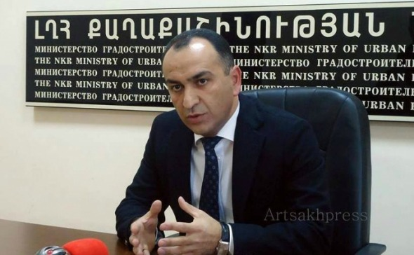 Karen Shahramanyan, Artsakh's Minister of Urban Planning (Photo: Artsakhpress)