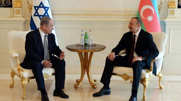 Israeli Prime Minister Netanyahu and Azerbaijani president Ilham Aliyev in Baku on Dec. 13, 2016 (Photo: Haim Zach/GPO)