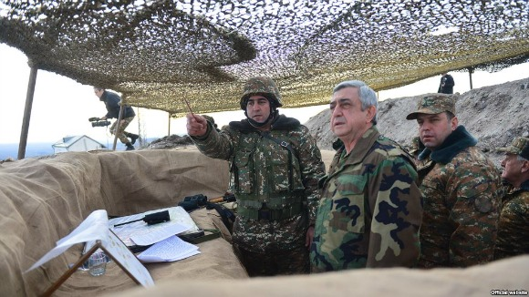 President Sarkisian visits frontline positions in Artsakh (Photo: president.am)
