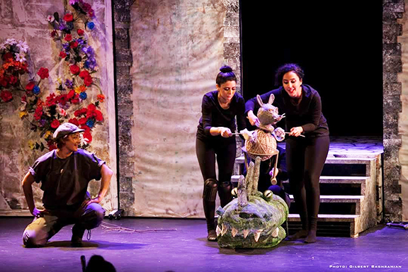 """""""The Secret of the Flower Pot"""": the debut production of the Hamazkayin Theater Company."""
