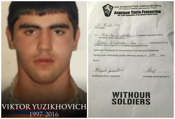 Viktor Yuzikhovich, fallen soldier
