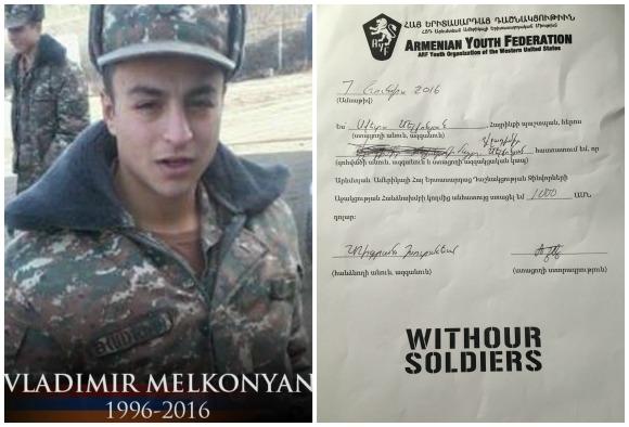 Vladimir Melkonyan, fallen soldier