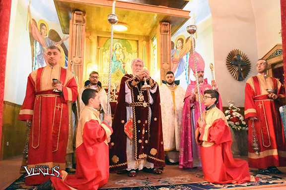 Catholicos Aram I celebrates Christmas Mass in Aleppo on Friday