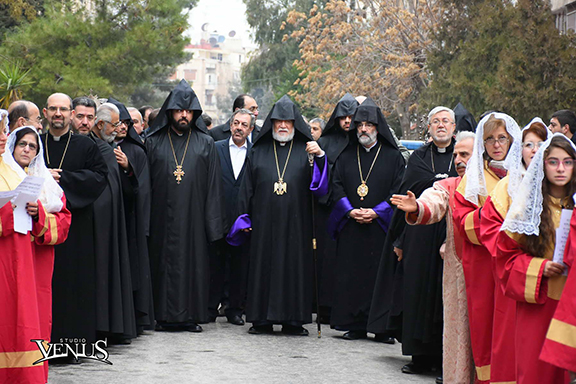 Aram I arrived in Aleppo for an historic pontifical visit (Photo by Studio Venus)