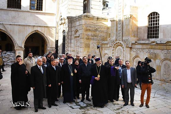 Aram I at the Sourp Kevork church in Syria