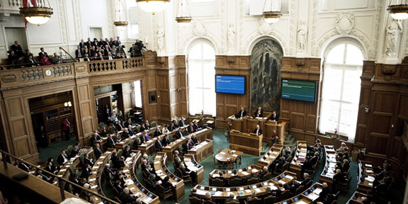 Danish Parliament, also known as Folketing/Folketinget (Photo: Anders Hviid/Folketinget)