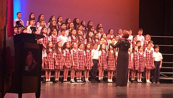 The Chamlian choir performs