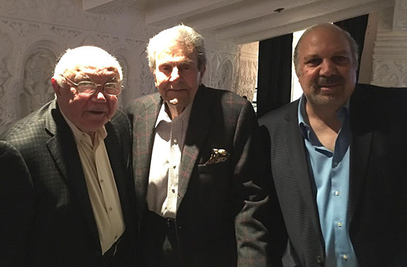 (From left to right) Walter Karabian, Roosevelt High School '56; Mike Connors, Fresno High School '43; and  Dick Manoogian, Roosevelt High School '67.