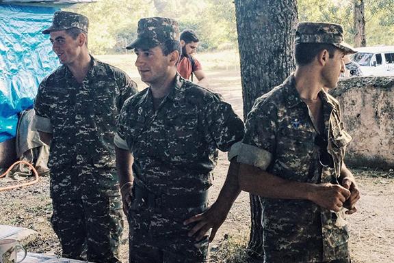 Nagorno-Karabakh (Artsakh) Republic Servicemen in Shushi (Photo: Araz Chiloyan)