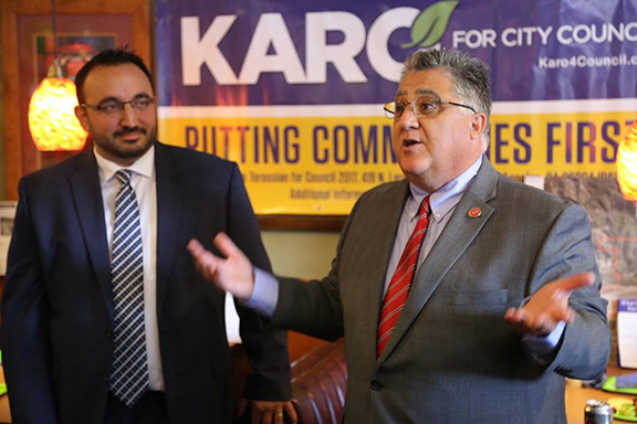 California State Senator Anthony Portantino (right) has announced his support for Karo Torossian's LA City Council's 7th District candidacy (Photo: Karo Torossian Facebook Page)