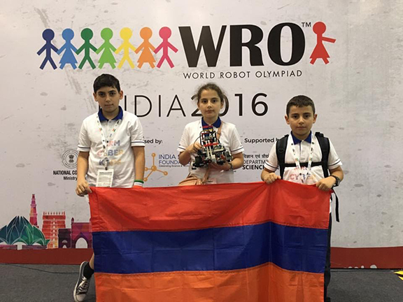 Arm Cyber Kids places 21st out of thousands of teams who participated in the World Robot Olympiad  in New Delhi, India (Photo: Creative Educational Technologies)