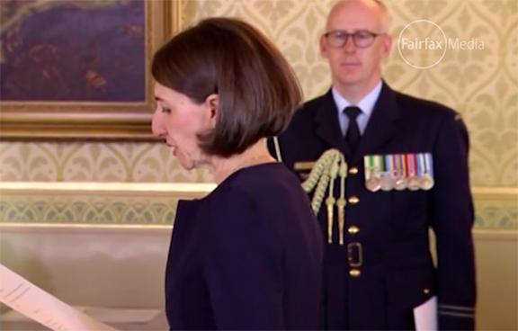 Gladys Berejiklian takes oath of office