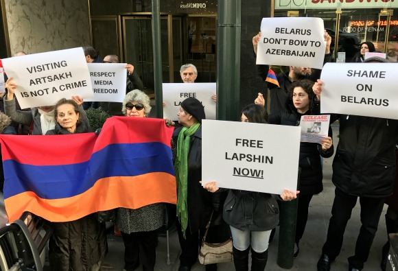 Scenes from the ANC New York protest against the extradition of Alexandr Lapshin