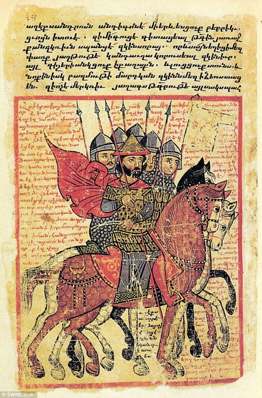 London-based expert discovers Alexander the Great's last will written in an ancient Armenian manuscript (Image: SWNS)