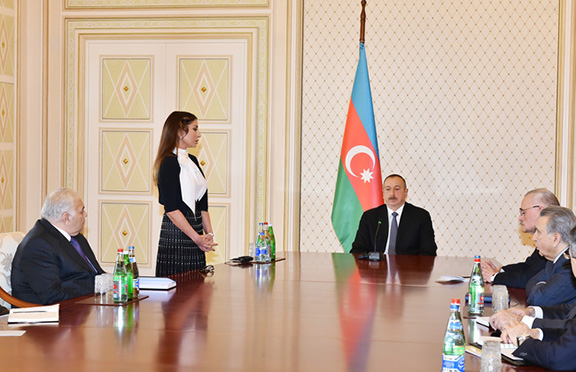 President Aliyev appointed his wife Mehriban Aliyeva first Vice President of Azerbaijan on Feb. 21, 2017 during a Security Council meeting in Baku (Photo: Azerbaijani Presidental Press Service)